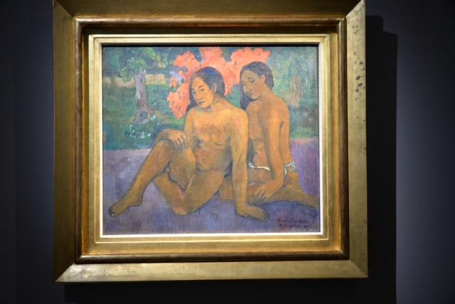 "Tableau de Paul Gauguin plein à Hiva Oa "" Et l'or de leur corps"", 1901"