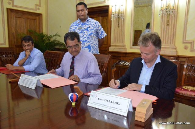 La Polynésie française a signé mardi un protocole d'adhésion de la Polynésie française au groupe Agence France Locale.
