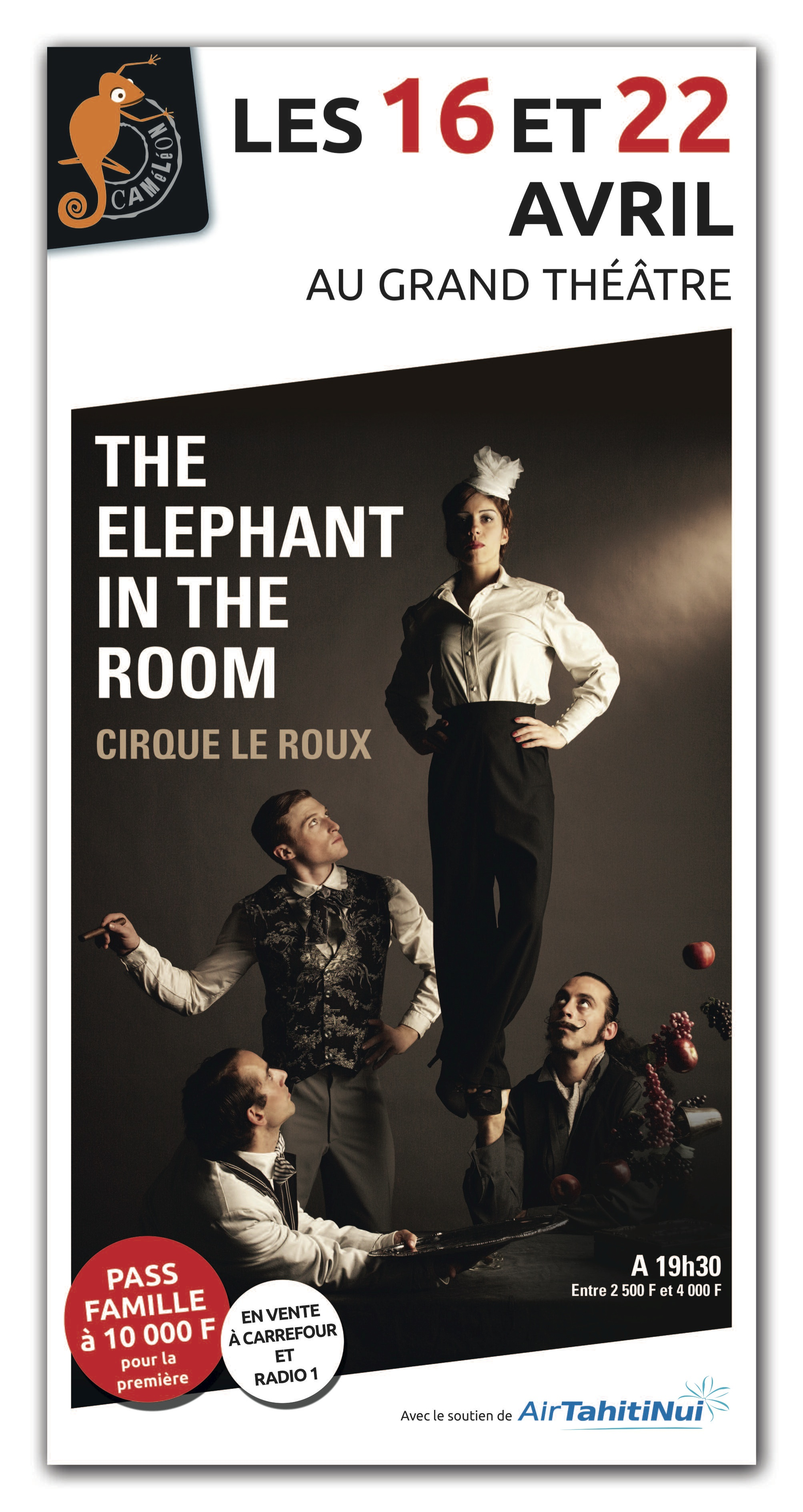 """""""The Elephant in the Room"""" : trois hommes et une femme réinventent le cirque"""