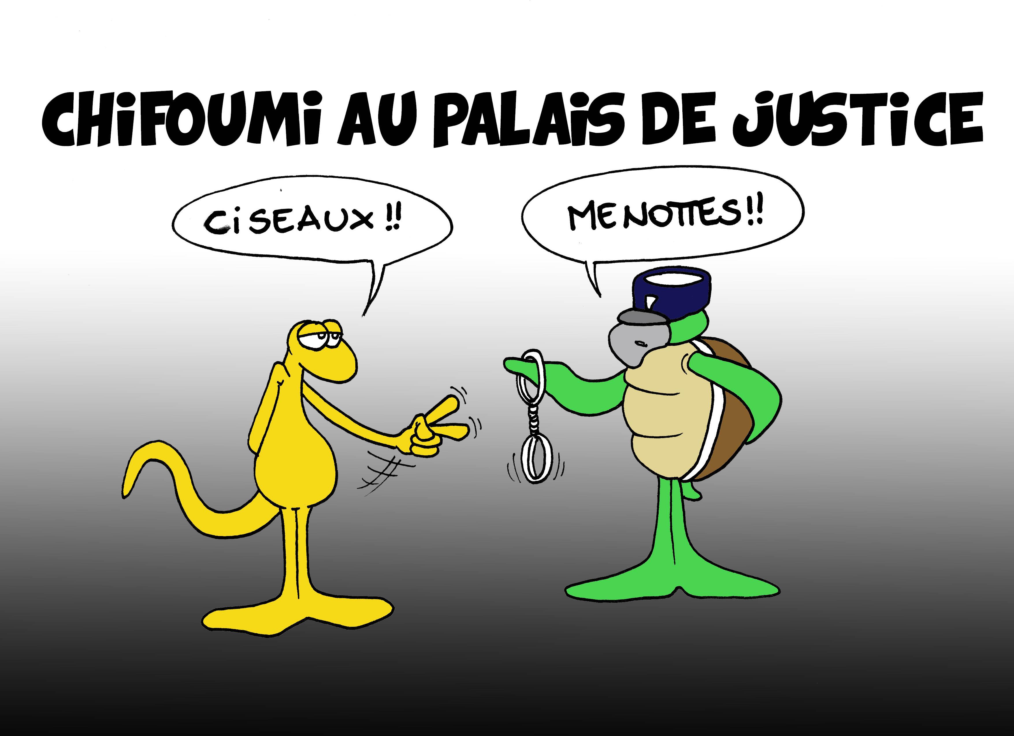 """""""Chifoumi au palais de justice"""" par Munoz"""