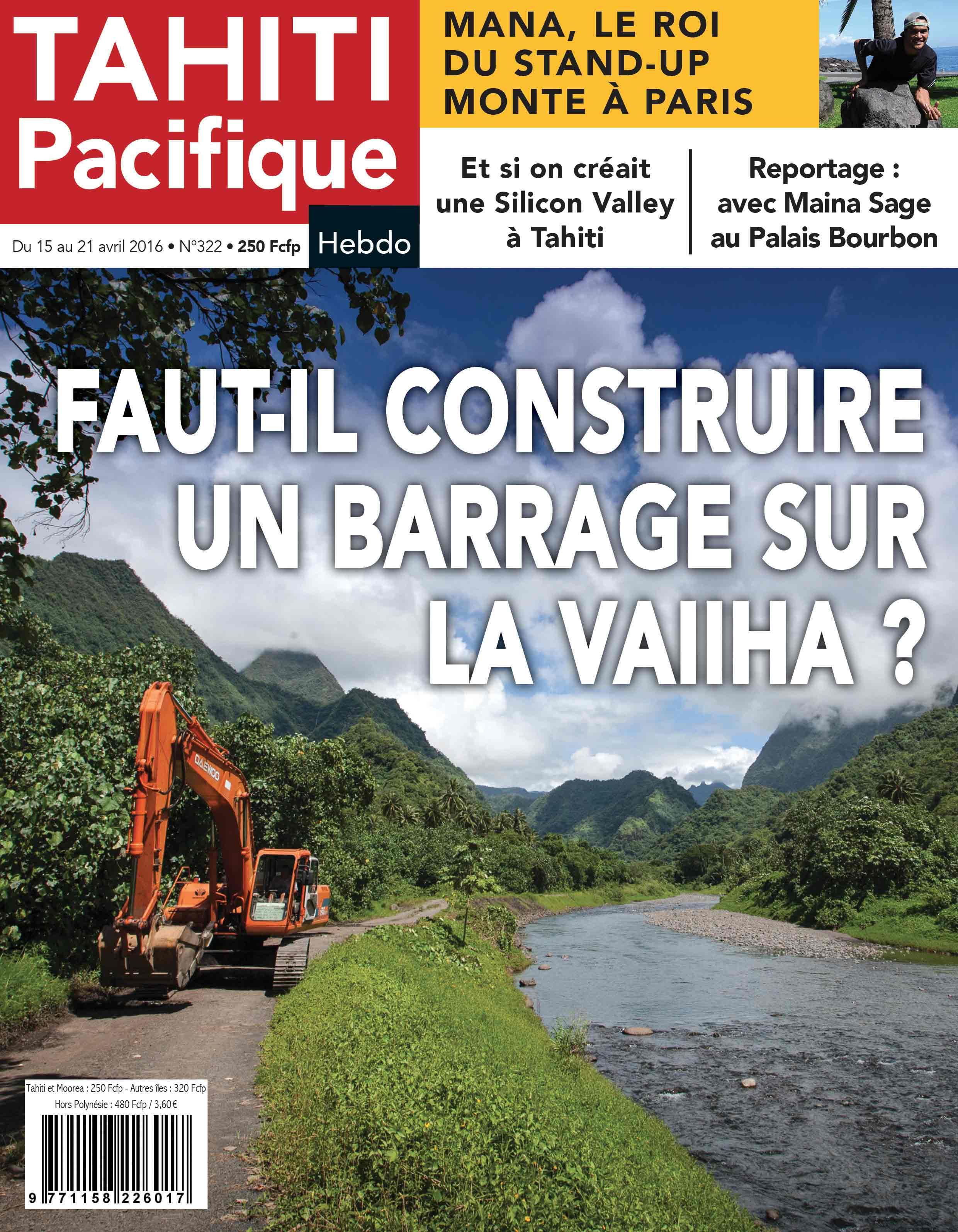 A la Une de Tahiti Pacifique Hebdo demain
