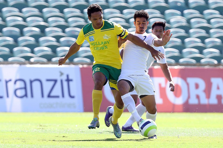 Alvin Tehau a été l'auteur d'un doublé contre Kiwi FC