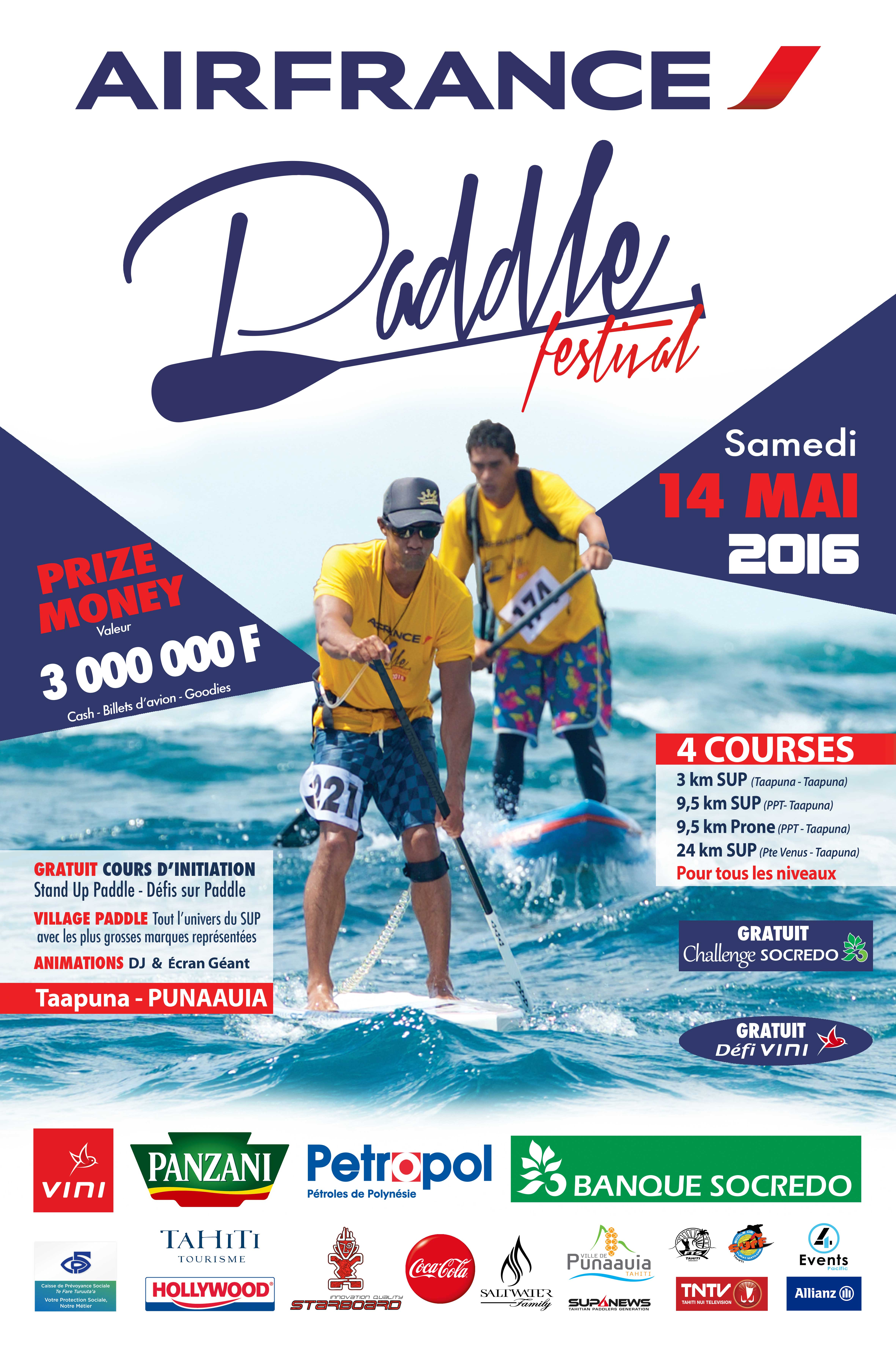 """Air France Paddle Festival : rendez-vous le 14 mai pour """"l'événement de l'année"""""""