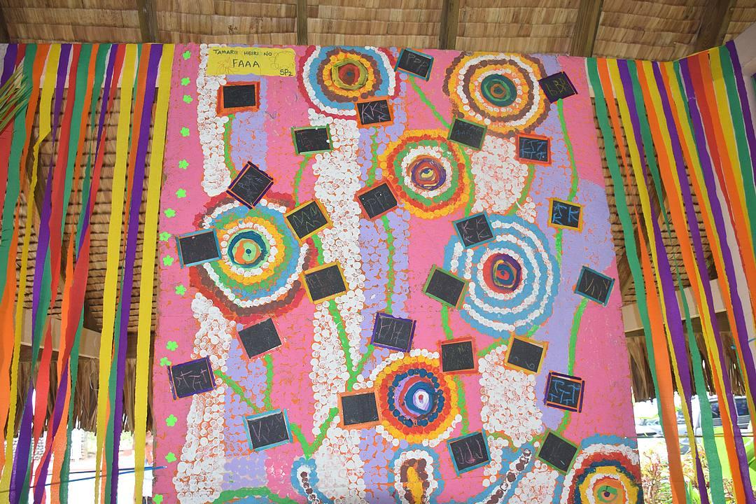 Semaine de l'école: les élèves de Faa'a exposent leurs oeuvres artistiques