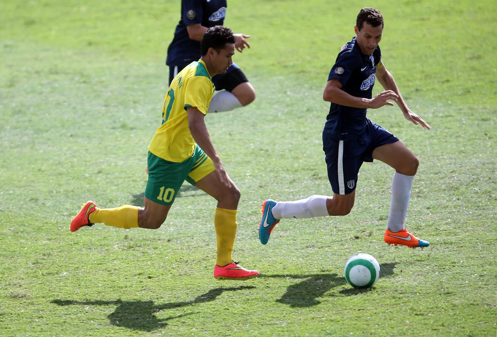 Steevy Chong Hue n'a pas pu marquer lors de cette demi finale contre Auckland City
