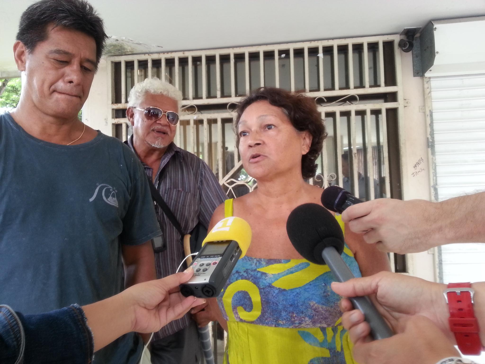 Claudine Tuarau, présidente sortante de l'association Ia Ora Taharu'u.