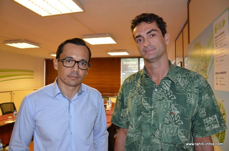 Marc Chapman, président de la TEP et Thierry Trouillet, directeur général de la société d'économie mixte.