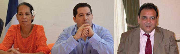 Vincent Dubois, Teura Iriti et Moana Greig candidatent pour les législatives de 2017, pour le Tahoera'a.