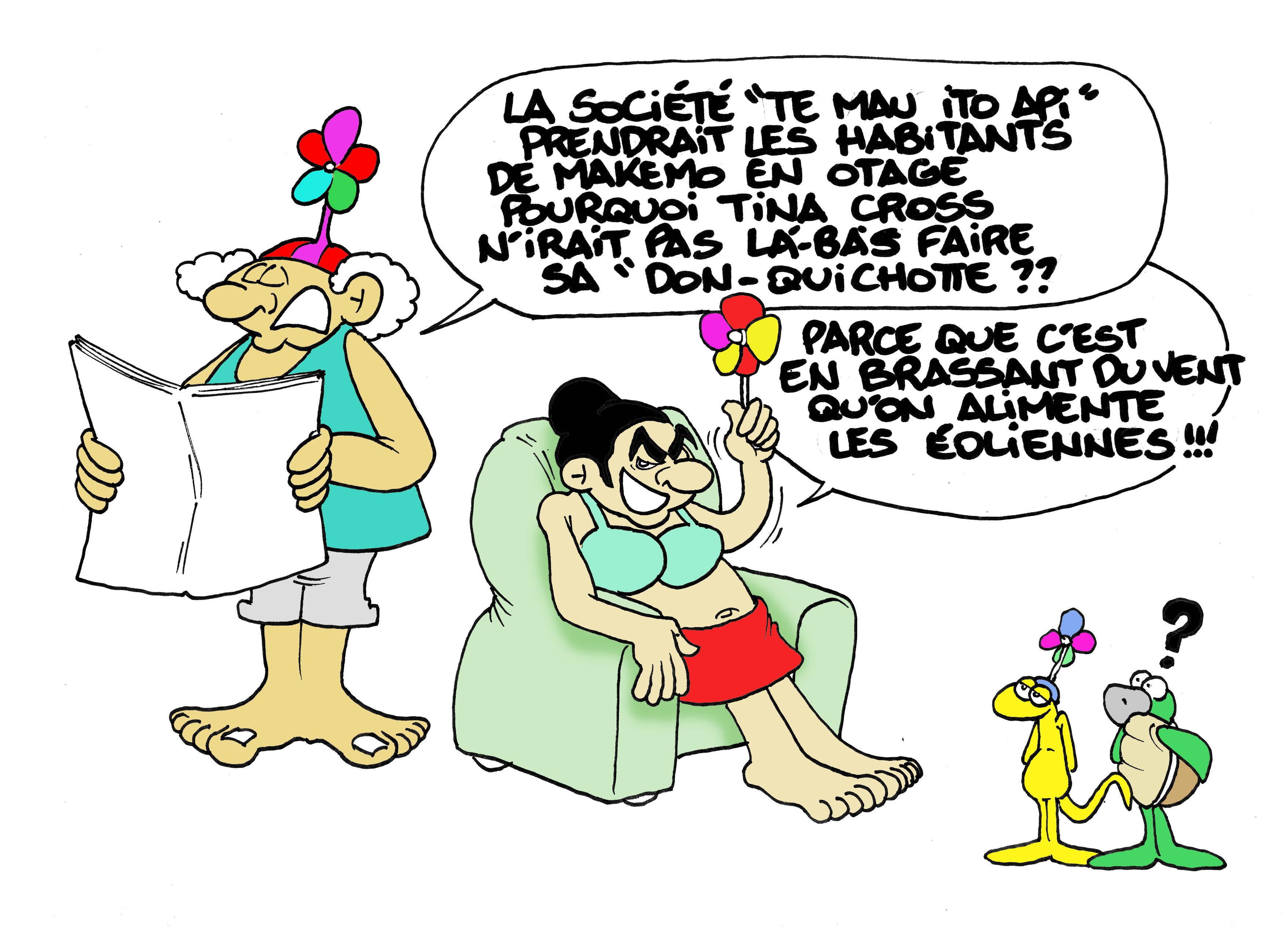 """""""Les éoliennes de Makemo"""" par Munoz"""