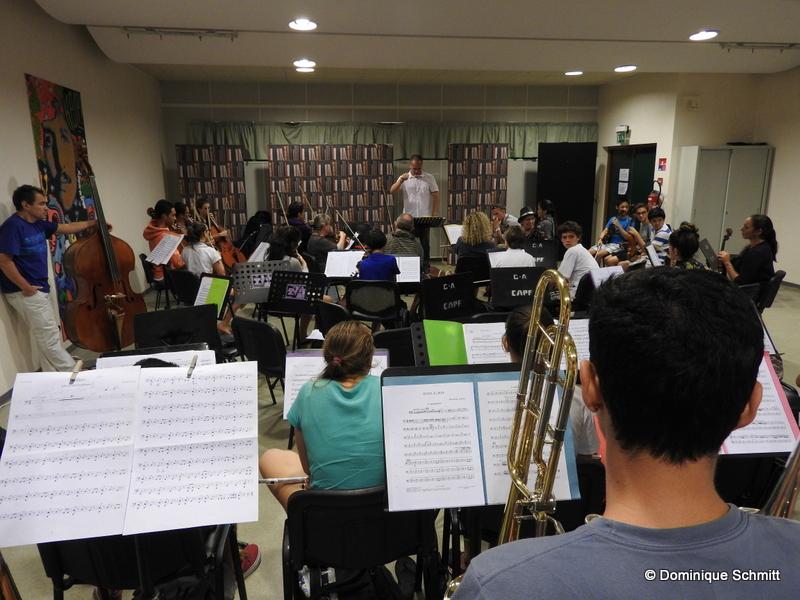 Le grand orchestre symphonique emmené par Simon Pillard s'entraîne dur pour atteindre les sommets...