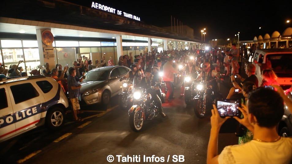 Une quarantaine de motards étaient là