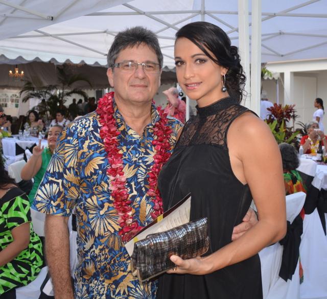 Michel Monvoisin, P-dg d'ATN, avec sa femme