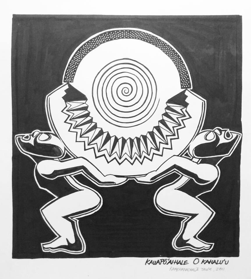 Les œuvres s'inspirent des divinités et des légendes polynésiennes.