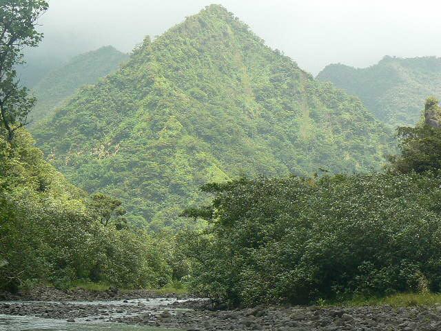 Longue d'environ 10 kilomètres, la Vaiiha est le quatrième plus grand bassin versant de Tahiti.