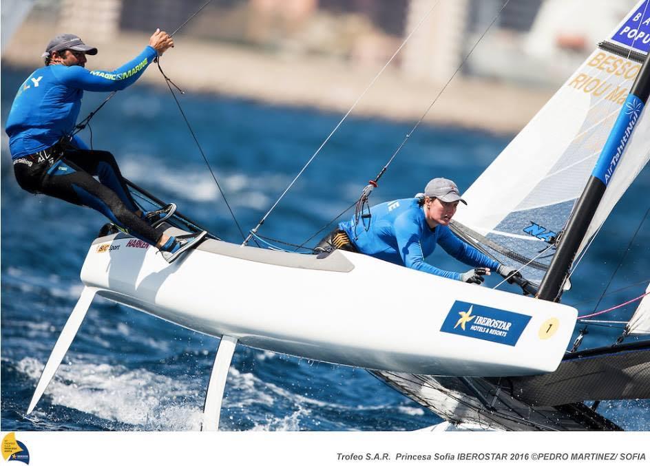 Nacra 17 : Le duo Besson / Riou 6ème à l'étape Hyères Sailing World Cup