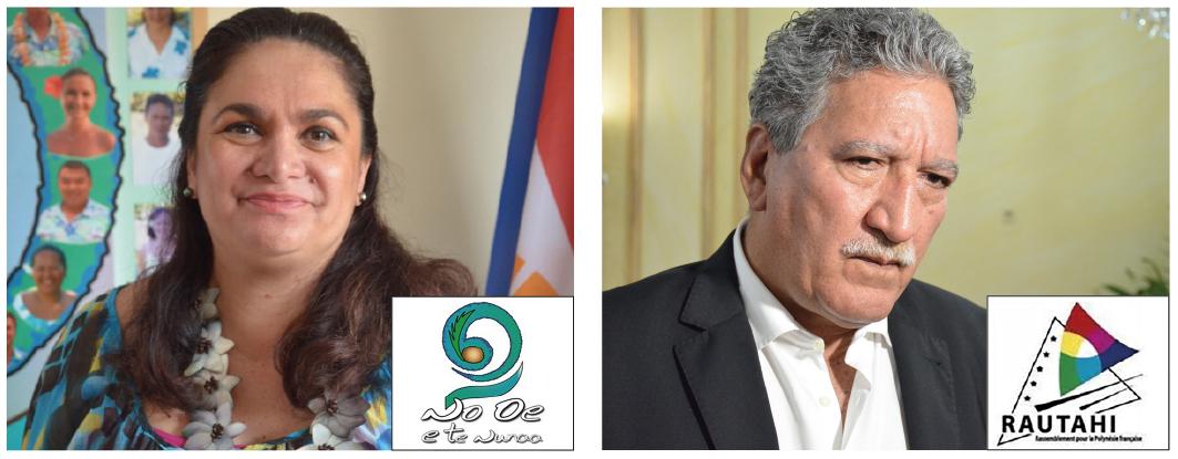 """Les partis politiques """"en sommeil"""" Rautahi et No Oe e te Nunaa sont allocataires en 2016 de 18 millions Fcfp, suite à la déclaration d'affiliation de quatre des cinq parlementaires polynésiens."""