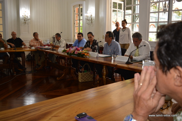 La rencontre s'est tenue bien après 14h30 ce mardi après-midi