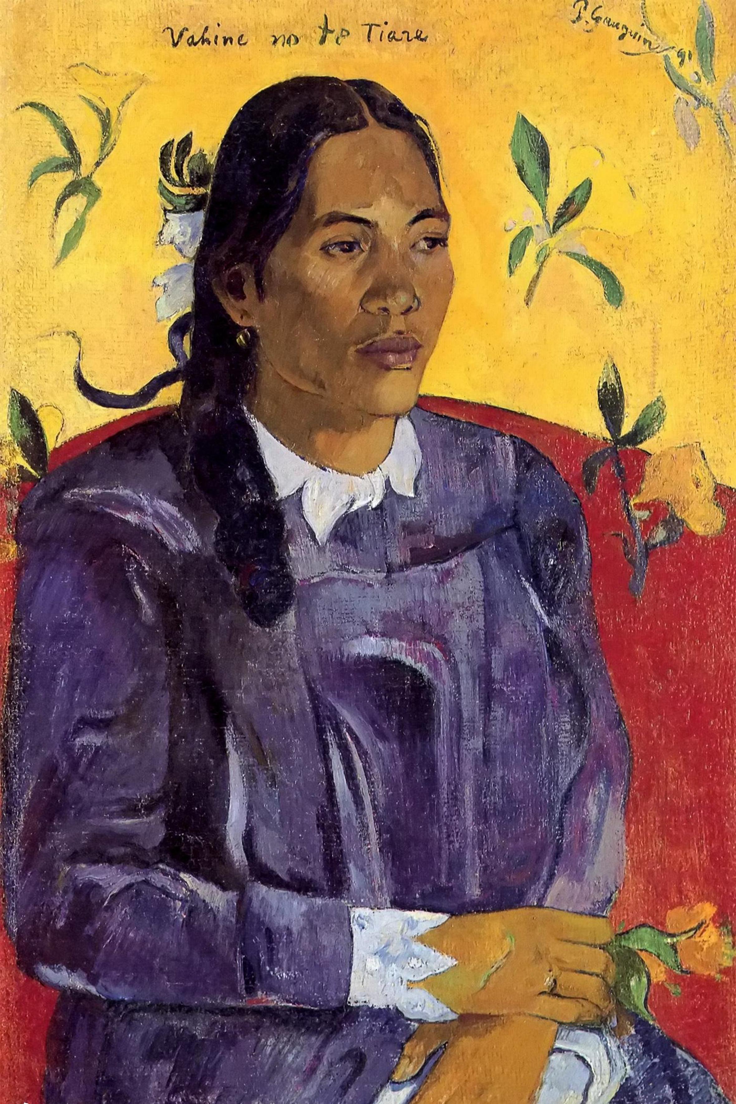 Vahine no te tiare. Paul Gauguin, Tahiti 1891