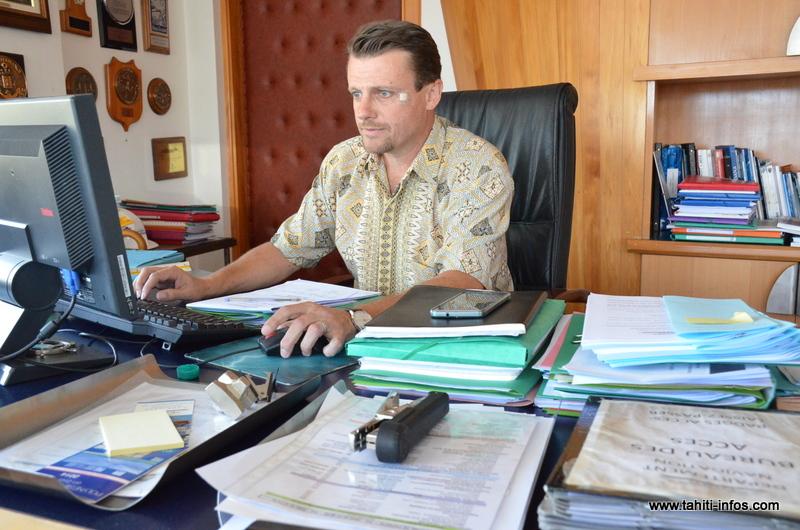 Boris Peytermann est aux commandes du port autonome en tant que directeur par intérim, depuis juillet 2015