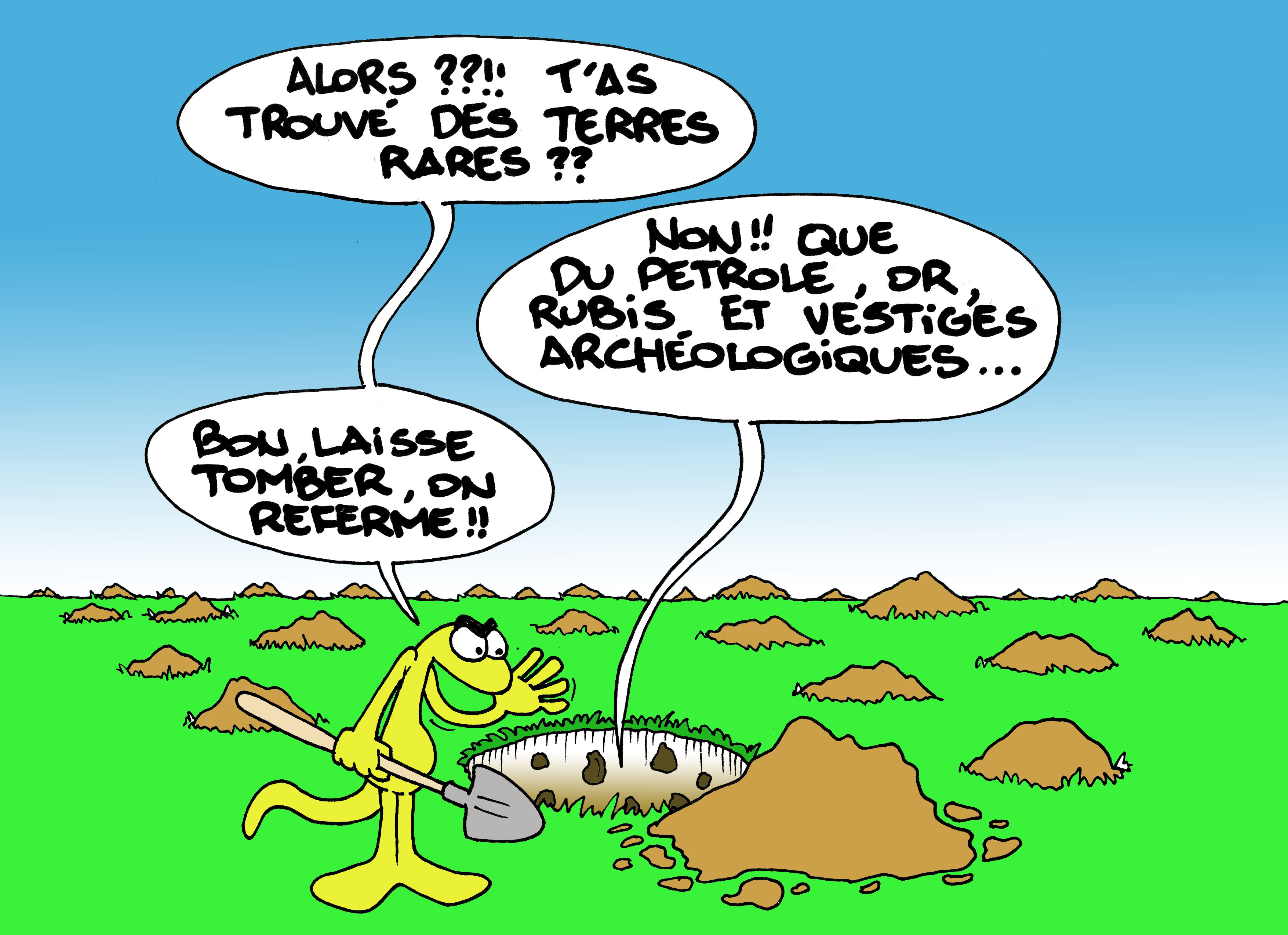 """""""Les Terres rares"""" vu par Munoz"""