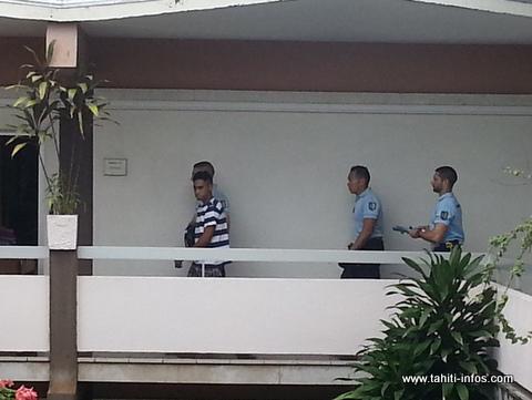 Le duo a été conduit à la prison de Nuutania à l'issue de l'audience cet après-midi.