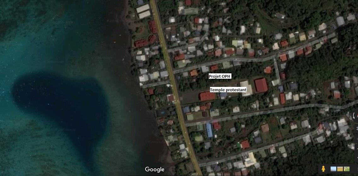 Les bâtiments seront construits au PK 24.5. Le terrain longe celui du temple protestant.