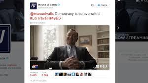 """49-3: quand Manuel Valls se fait taquiner par l'équipe de """"House of Cards"""""""
