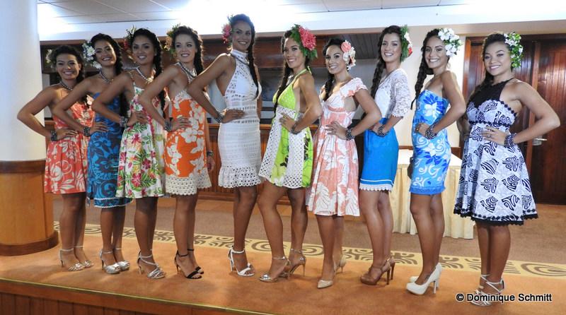 Les dix prétendantes au titre de Miss Tahiti 2016 sont âgées de 19 à 25 ans.