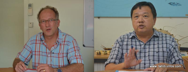 A gauche Henri-Pierre Mallet dont le contrat n'a pas été renouvelé à la direction du Bureau de veille sanitaire et à droite, François Laudon qui assurera l'intérim en attendant un nouveau recrutement.