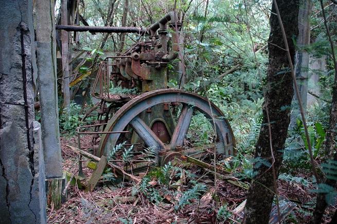 Des vestiges du passé industriel et minier de Makatea on en trouve un peu partout sur l'île. Bâtiments, anciennes maisons des dirigeants de la CFPO, restes de locomotive ou de rails.