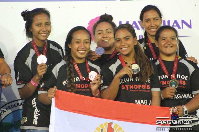 Va'a Sunshine Coast – J6: Une médaille d'argent pour les Juniors filles de Heiva a Hoe
