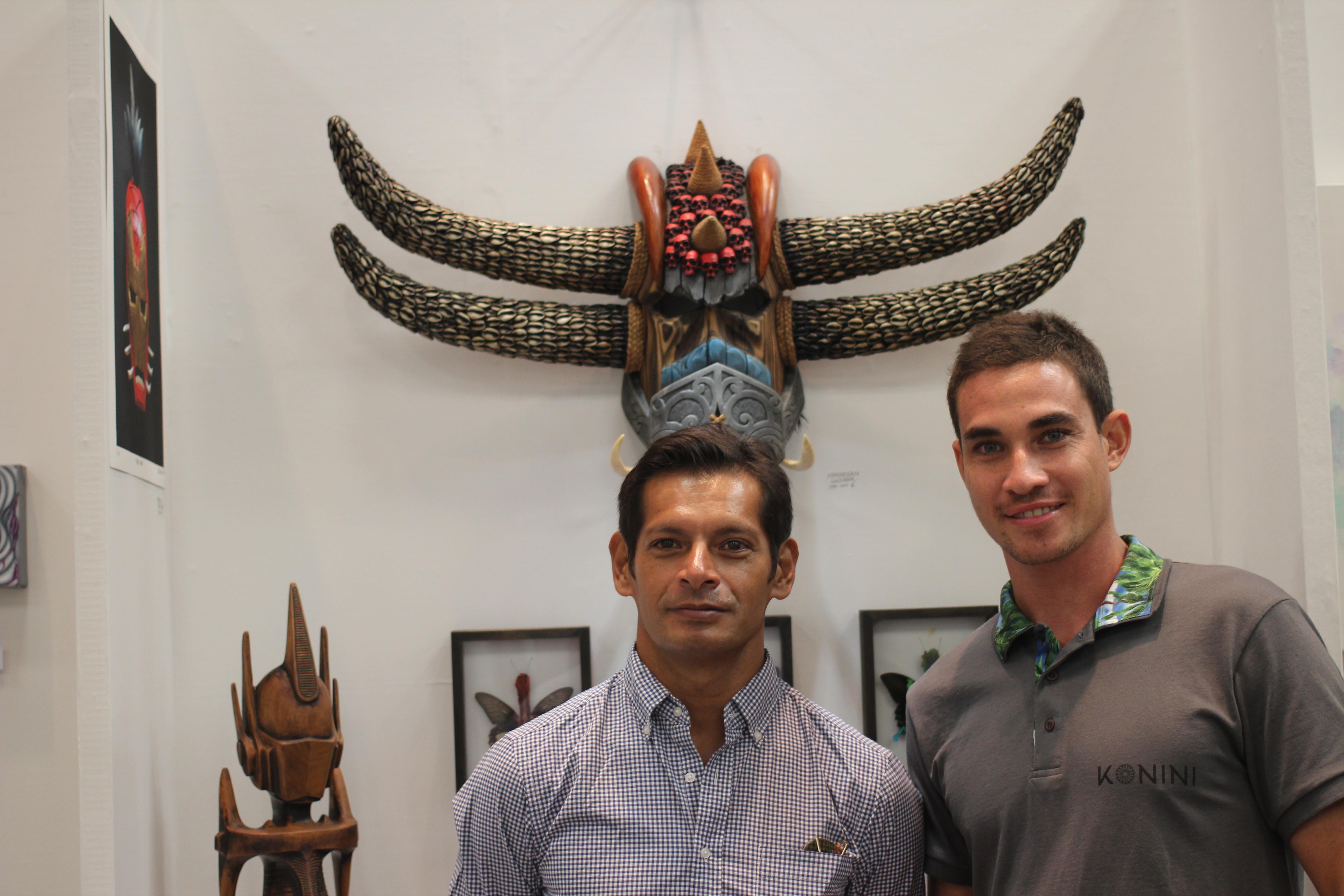 """Les deux Polynésiens font partie de la nouvelle vague d'artistes inspirés par le """"street art""""."""