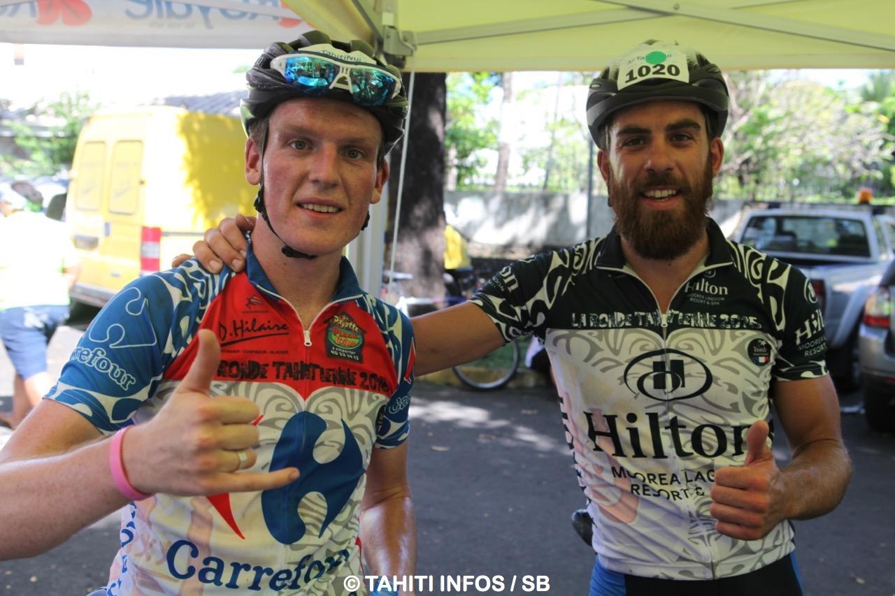 Liam Aitcheson 1e en 2H32'12, et Christophe Betard, 2e en 2H33'09