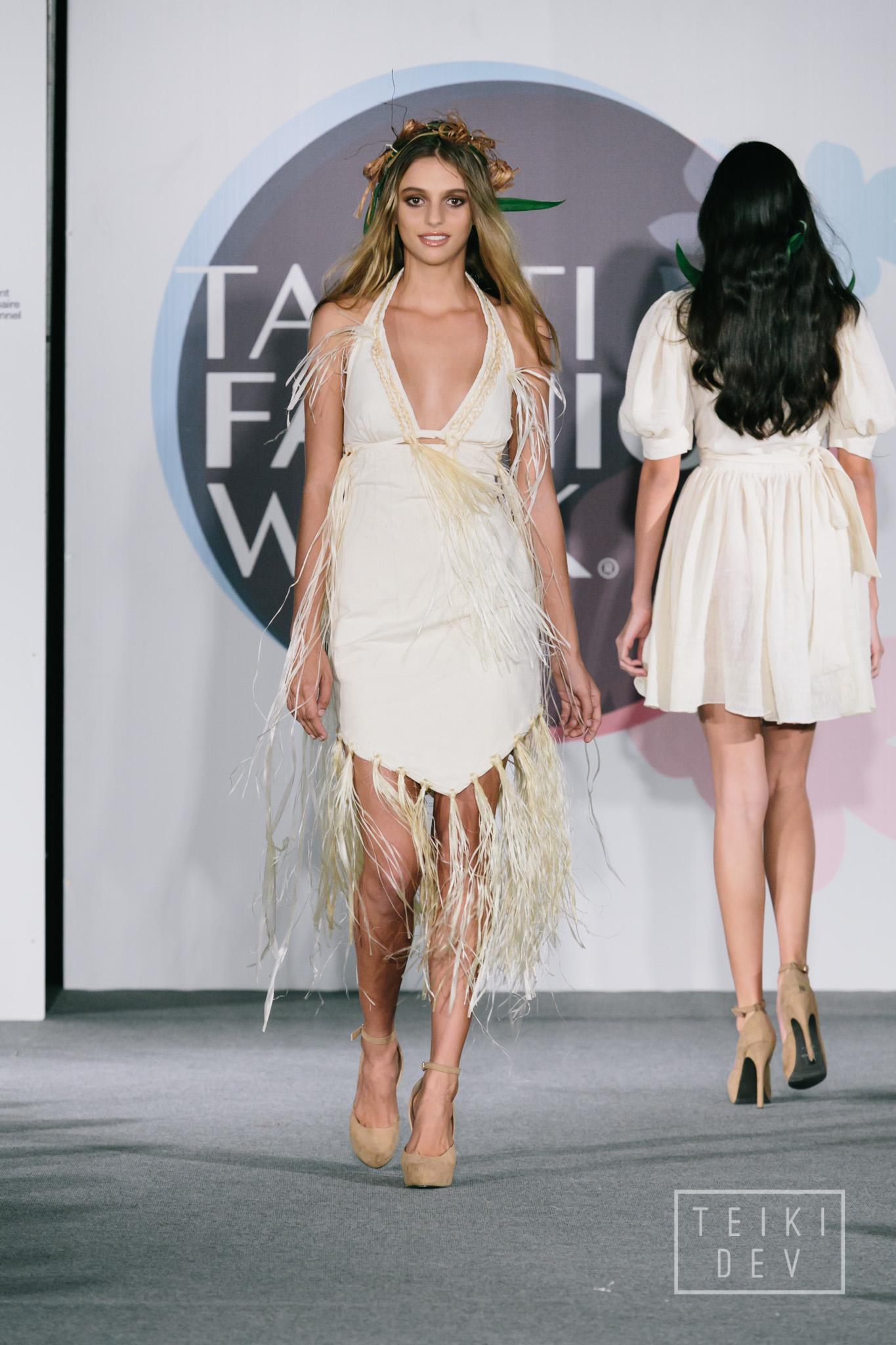 Pendant trois jours, la mode et les créateurs locaux seront mis en lumière ! Ici, le mannequin Nina pour Nel's L., créatrice de vêtements.