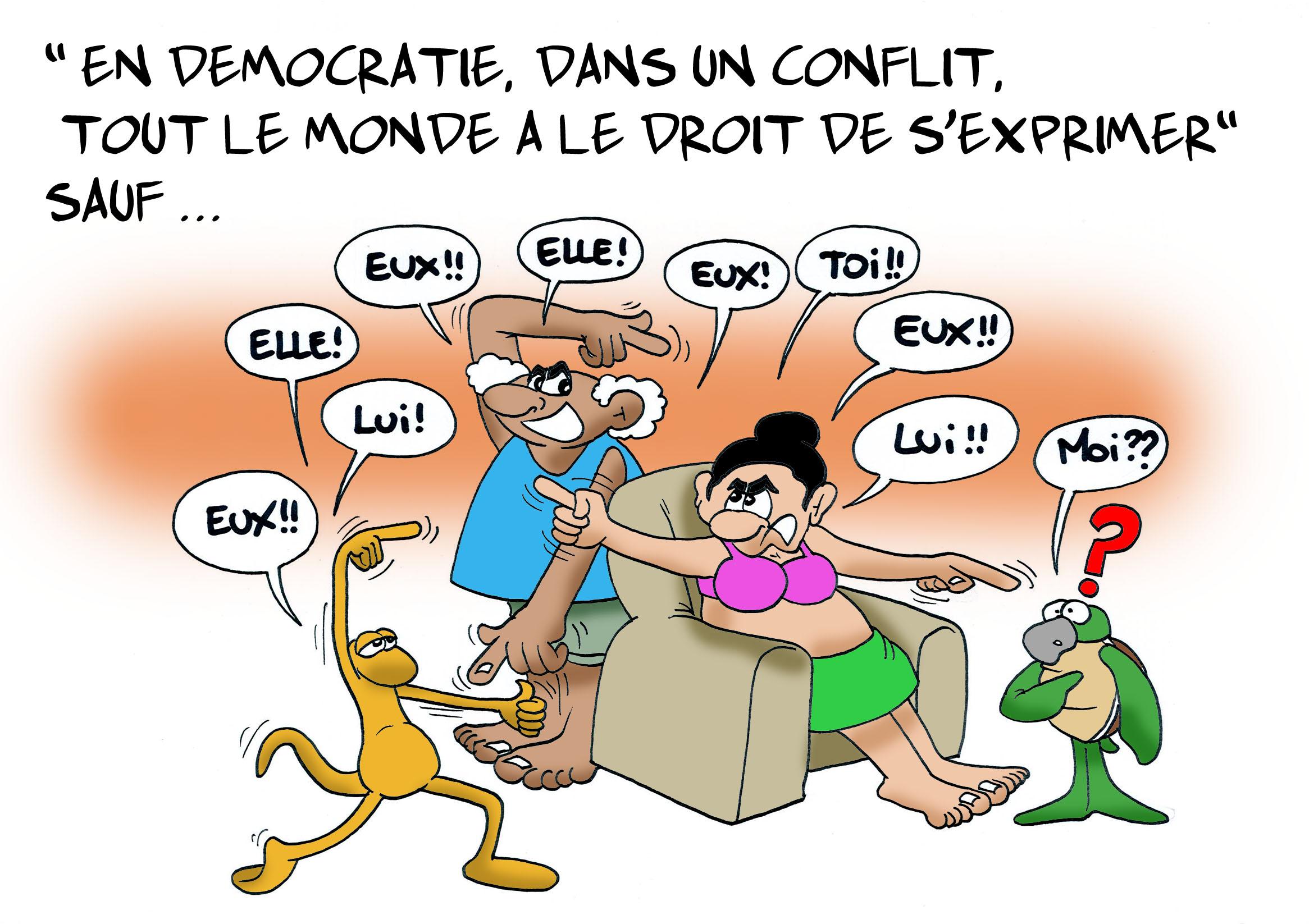"""""""La liberté d'expression"""" par Munoz"""