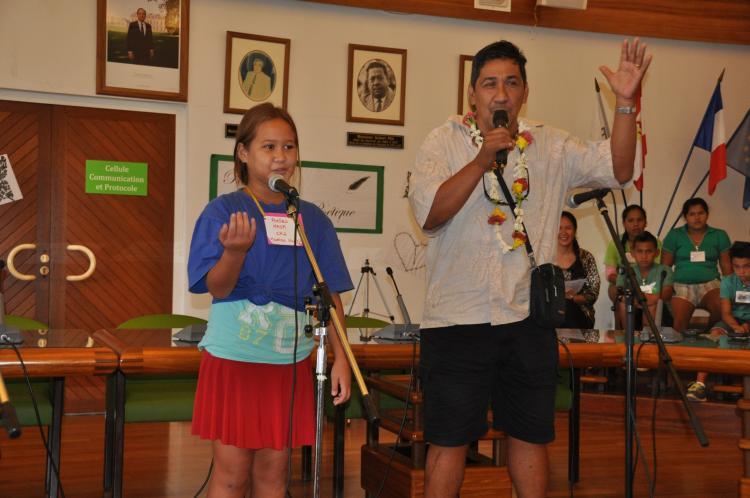 106 élèves participeront à cette troisième rencontre plurilingue (français, anglais et tahitien). [Crédit Photo : mairie de Punaauia]