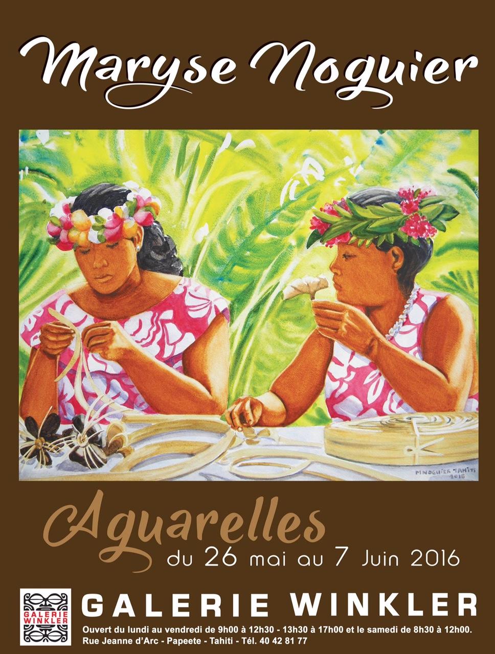 L'hommage aux femmes polynésiennes de Maryse Noguier
