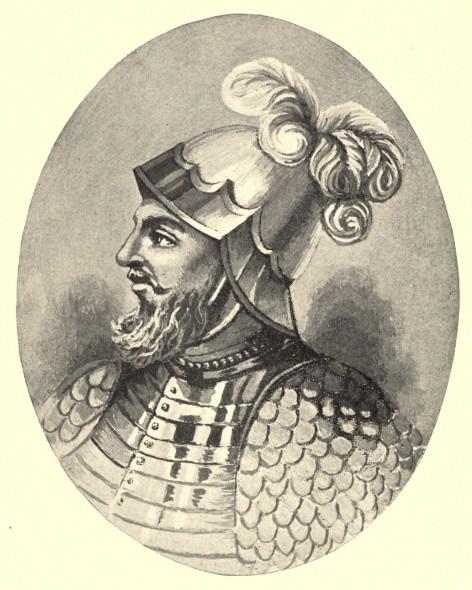 L'un des rares portraits de Vasco Nuñez de Balboa, tombé en disgrâce dans le Nouveau Monde et lâchement assassiné par son beau-père, sous couvert d'un procès pour trahison.