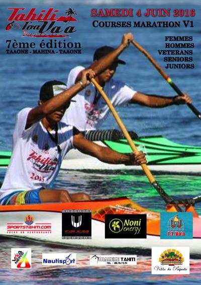 Va'a – V1 : Rendez-vous le samedi 4 Juin pour la Tahiti Toa Va'a