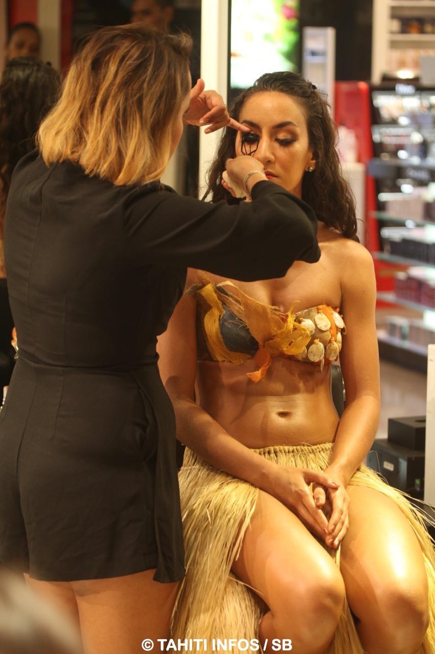 Un maquillage « made in New York » pour la danseuse Vaea Teahi