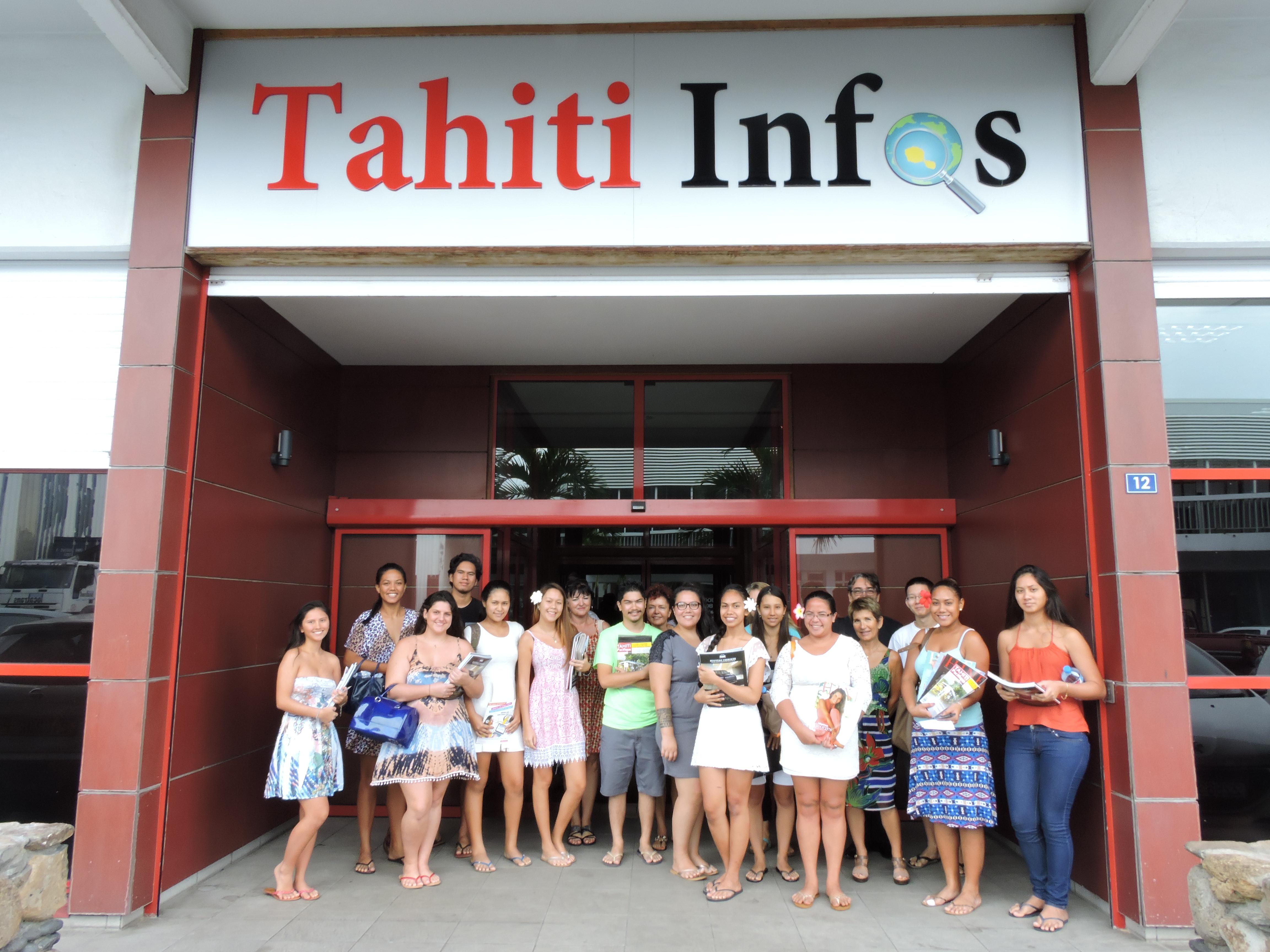 Les élèves de prépa HEC du lycée de Papara ont visité la rédaction de Tahiti Infos vendredi.