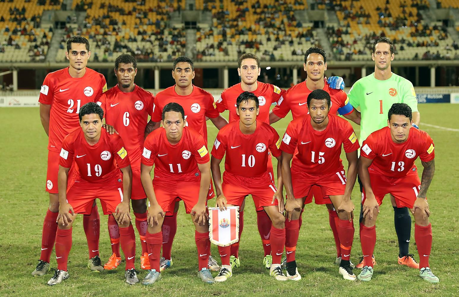 La sélection tahitienne contre la Calédonie