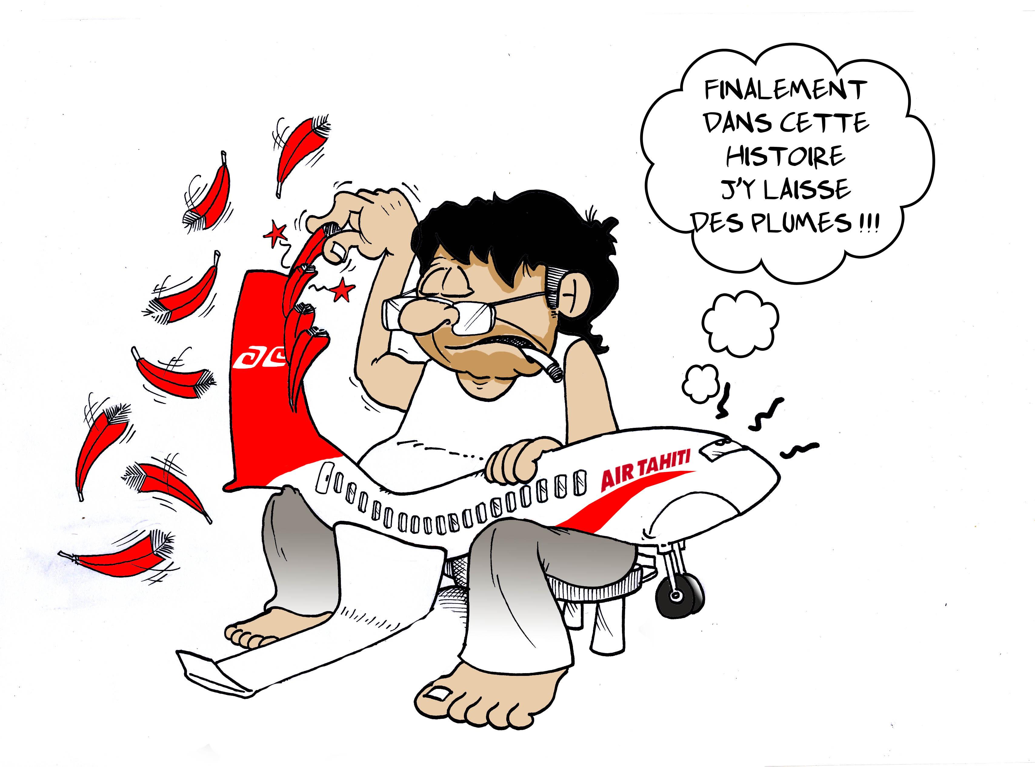"""""""Fin de la grève Air Tahiti"""" par Munoz"""