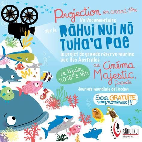 """Projection du documentaire """"Le grand Rahui des Australes"""" pour la Journée de l'Océan"""