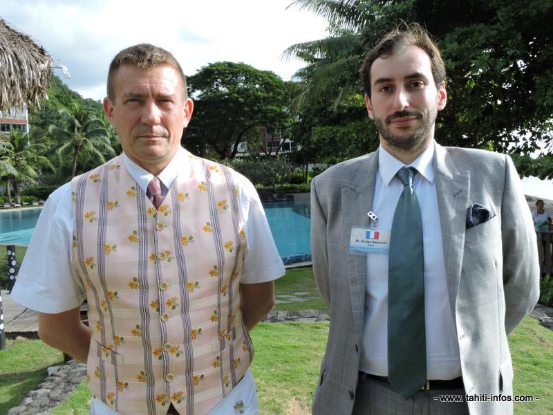 Christophe-Alexandre Paillard (à gauche) et Nicolas Mazzucchi (à droite).