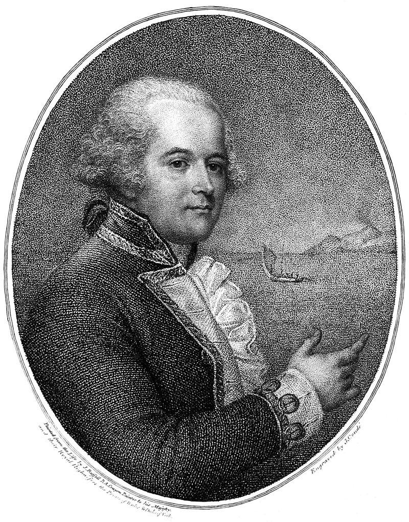 """Ce portrait de Bligh date de l'époque de la """"HMS Providence"""", à son retour de Tahiti."""