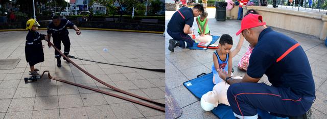Plusieurs ateliers ont été mis en place pour cette journée nationale des sapeurs-pompiers, ce qui a beaucoup plu aux enfants.