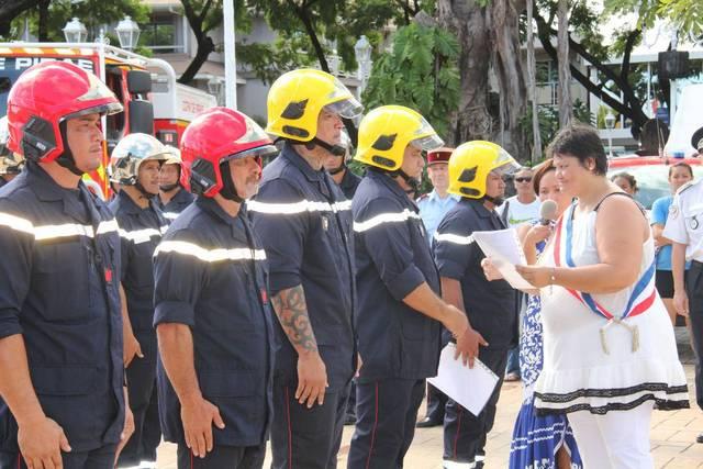 Les sapeurs-pompiers étaient à l'honneur ce samedi