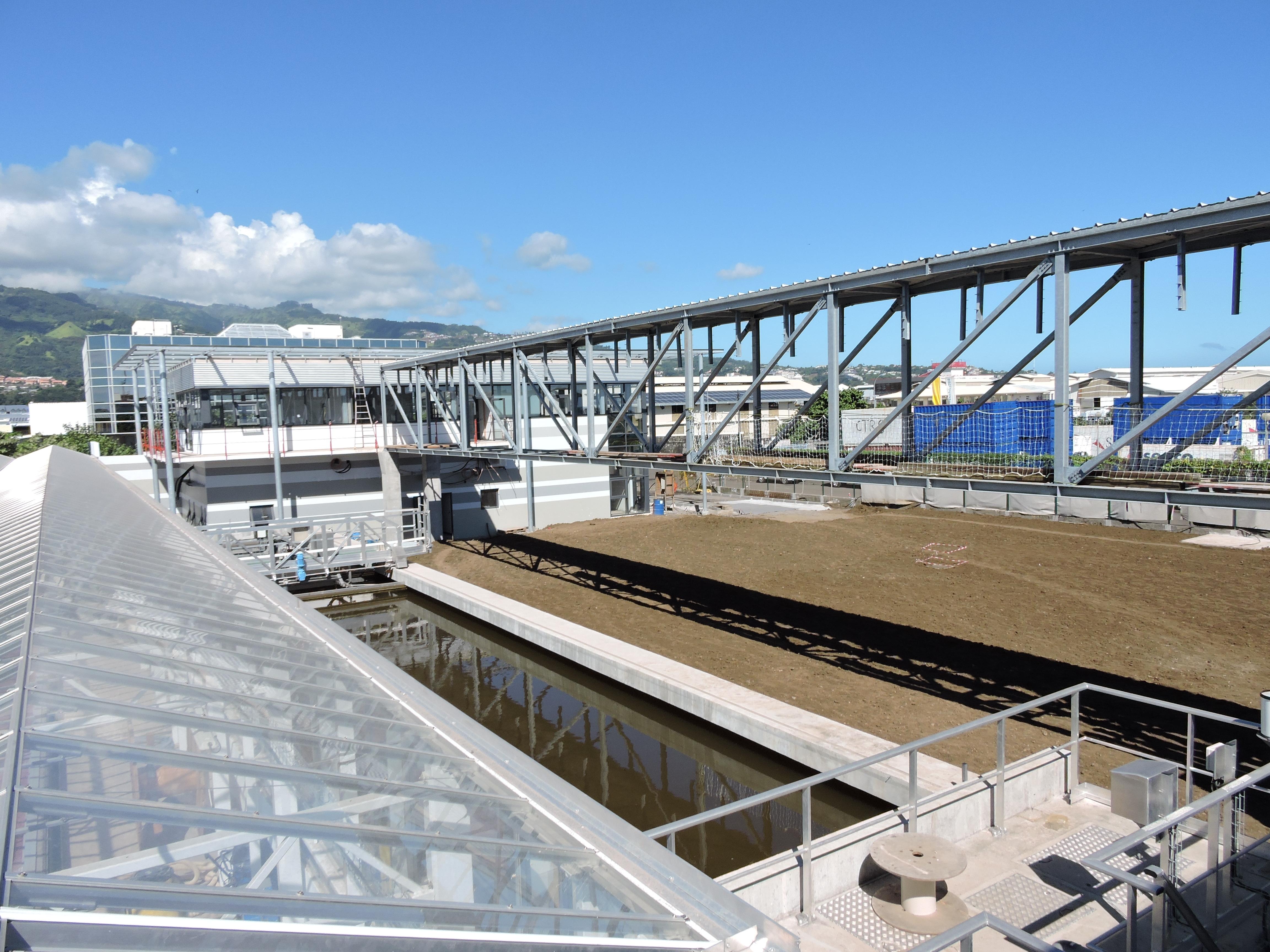 La station d'épuration est actuellement en rodage pour être pleinement opérationnelle en septembre.