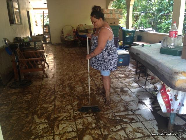 Plus d'une vingtaine de maisons ont été inondées lundi soir à Tiarei